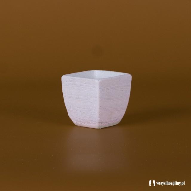 Doniczka Donica Ceramiczna Kwadratowa 3 Wyroby Z Gliny